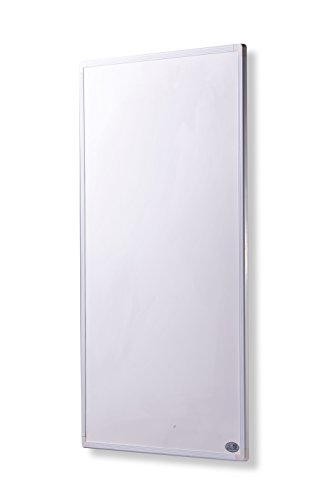 Infrarot Heizung mit Digitalthermostat Elektroheizung mit Stecker für Steckdose - 5 Jahre Premium-Herstellergarantie- Elektroheizung mit Überhitzungsschutz und TÜV - Heizt nach dem Prinzip der Sonne - heizt im optimalen Wellenlängenbereich von 8-15µ - Sonnenheizung (300 Watt)