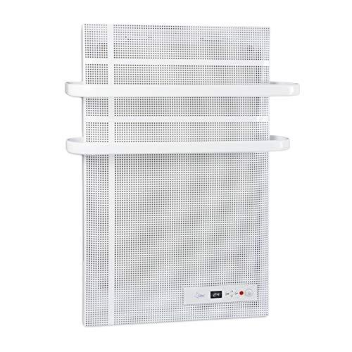 SUNTEC Bad-Wärmewelle Heat Supreme [Wellness-Wärme für Räume bis 35 m³ (~15 m²), Wandmontage, 2-fach Handtuchhalter, 1000 Watt]