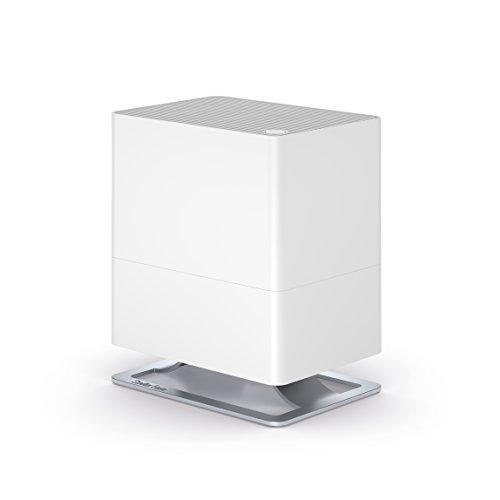 Stadler Form Luftbefeuchter Oskar little, energiesparender Raumbefeuchter für Räume bis 30 m², leiser Verdunster mit Abschalt-Automatik, dimmbare LEDs, für Duftöl geeignet, 24,6 x 29 x 17,5 cm, weiss